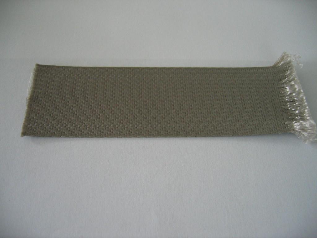 Vải dệt thoi khổ hẹp thích hợp cho sản xuất băng mực dùng cho máy chữ hoặc các loại máy tương tự; băng vải dùng làm dây đai an toàn ghế ngồi